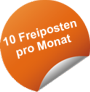 10 Freiposten pro Monat